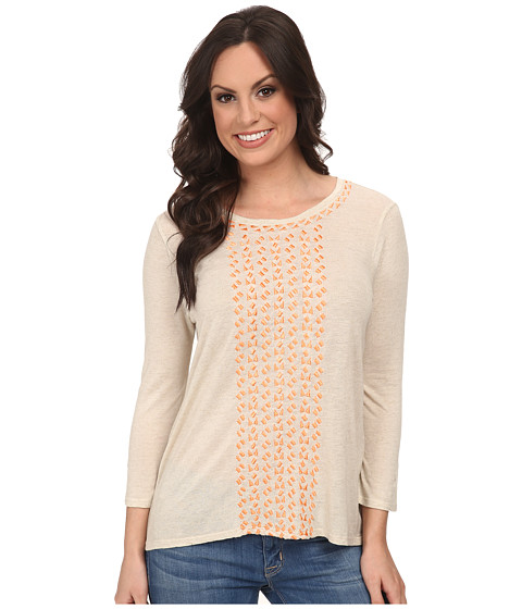 Lucky Brand - Cascading Embroidery Top (#130 Natural) Women's Clothing