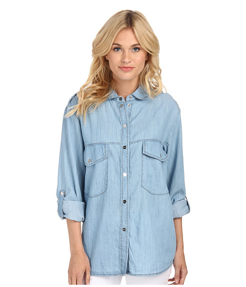 Sanctuary - Boyfriend Shirt (Sun Washed) Women's Long Sleeve Button Up
