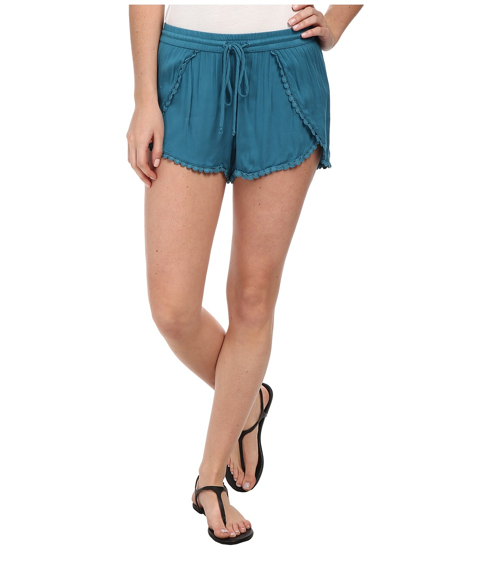 Young Fabulous & Broke - Kira Shorts (Teal) Women's Shorts