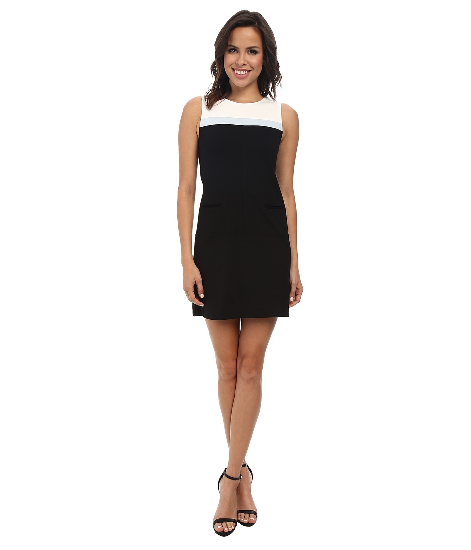 Sanctuary - Mod Molly Dress (Black/Ice Blue) Women's Dress