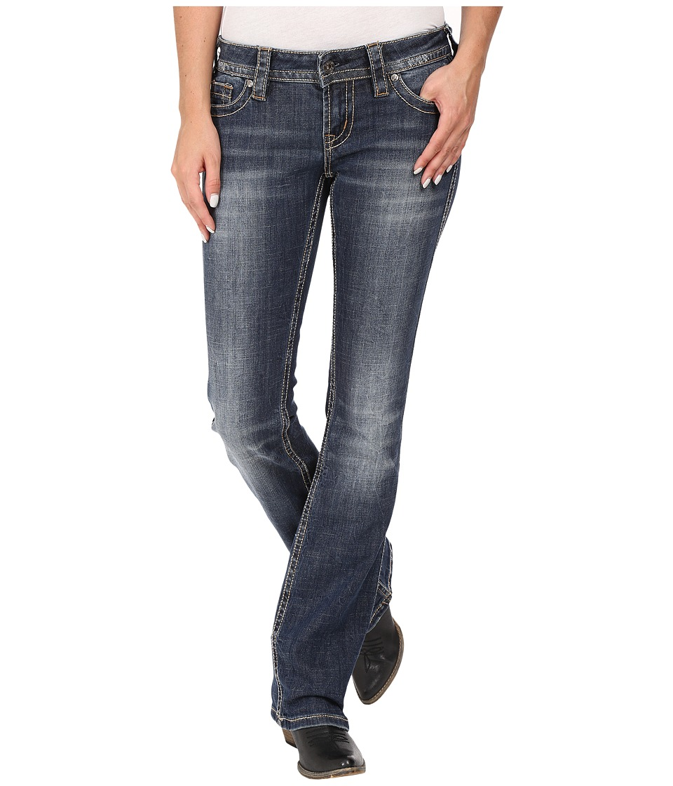 Stetson - 818 Contemporary Bootcut with Reverse S Stitch Back Pocket (Blue) Women's Jeans