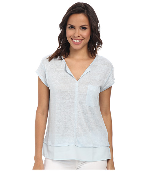 Sanctuary - City Mix Tee (Ice Blue) Women's Short Sleeve Pullover