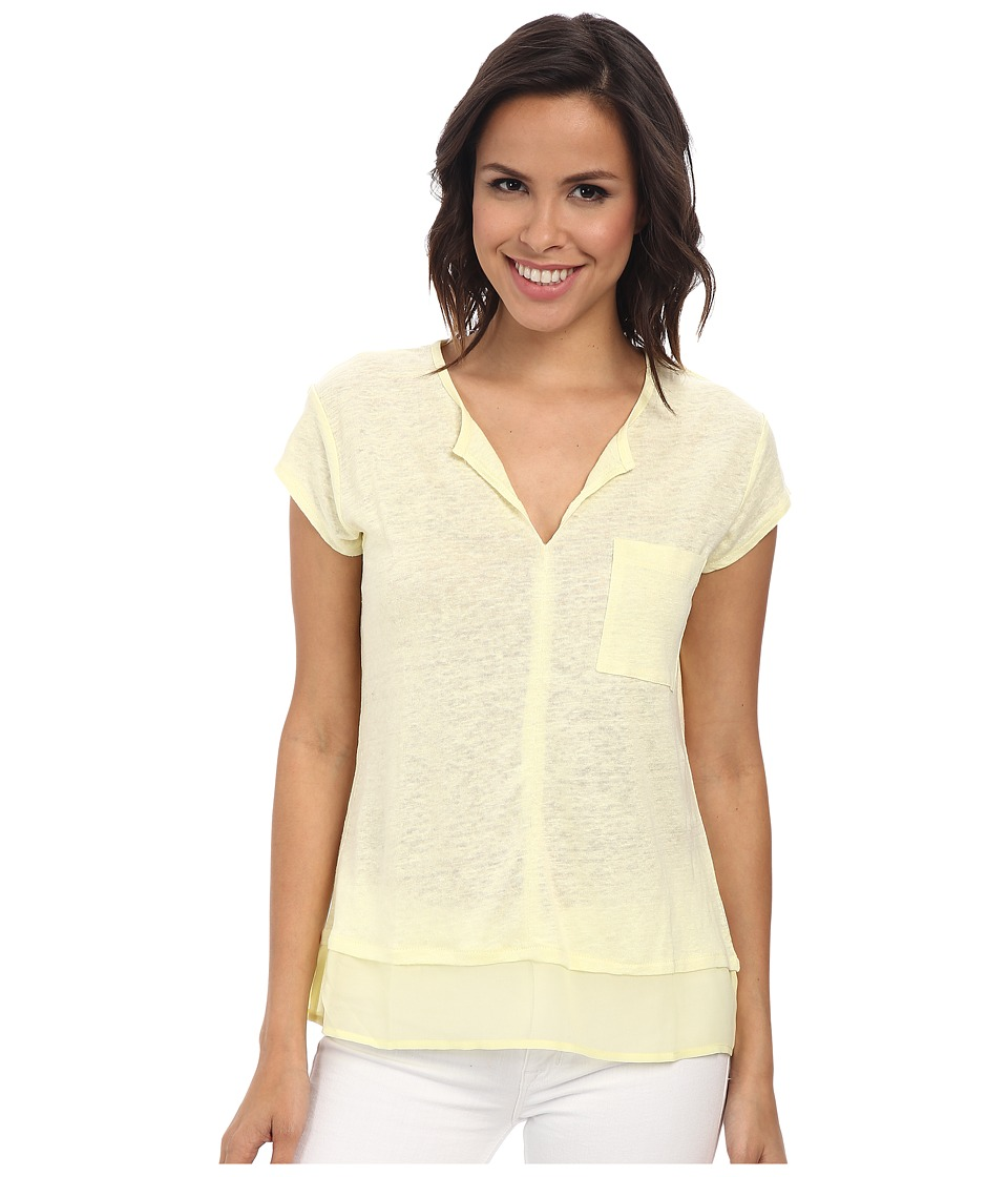 Sanctuary - City Mix Tee (Lemon Chiffon) Women's Short Sleeve Pullover