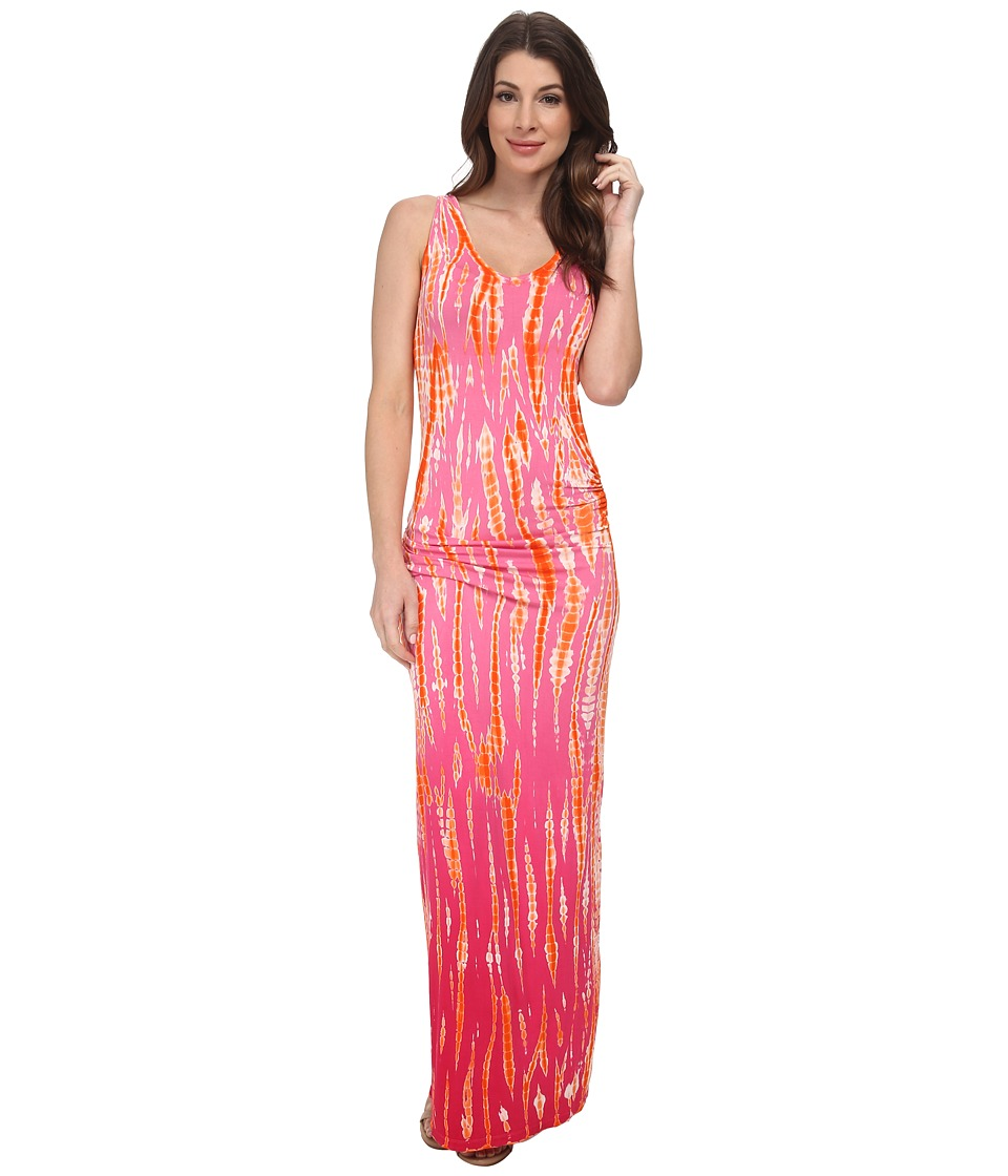 Young Fabulous & Broke - Sienna Maxi (Pink Rain Ombre) Women's Dress