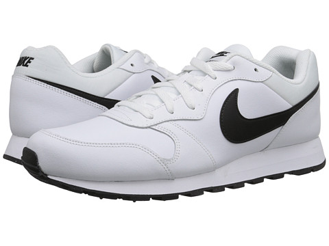 Nike - MD Runner 2 Leather (White/Black) Men