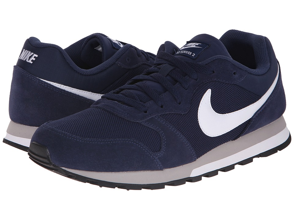 Nike - MD Runner 2 (Midnight Navy/Wolf Grey/White) Men's Classic Shoes