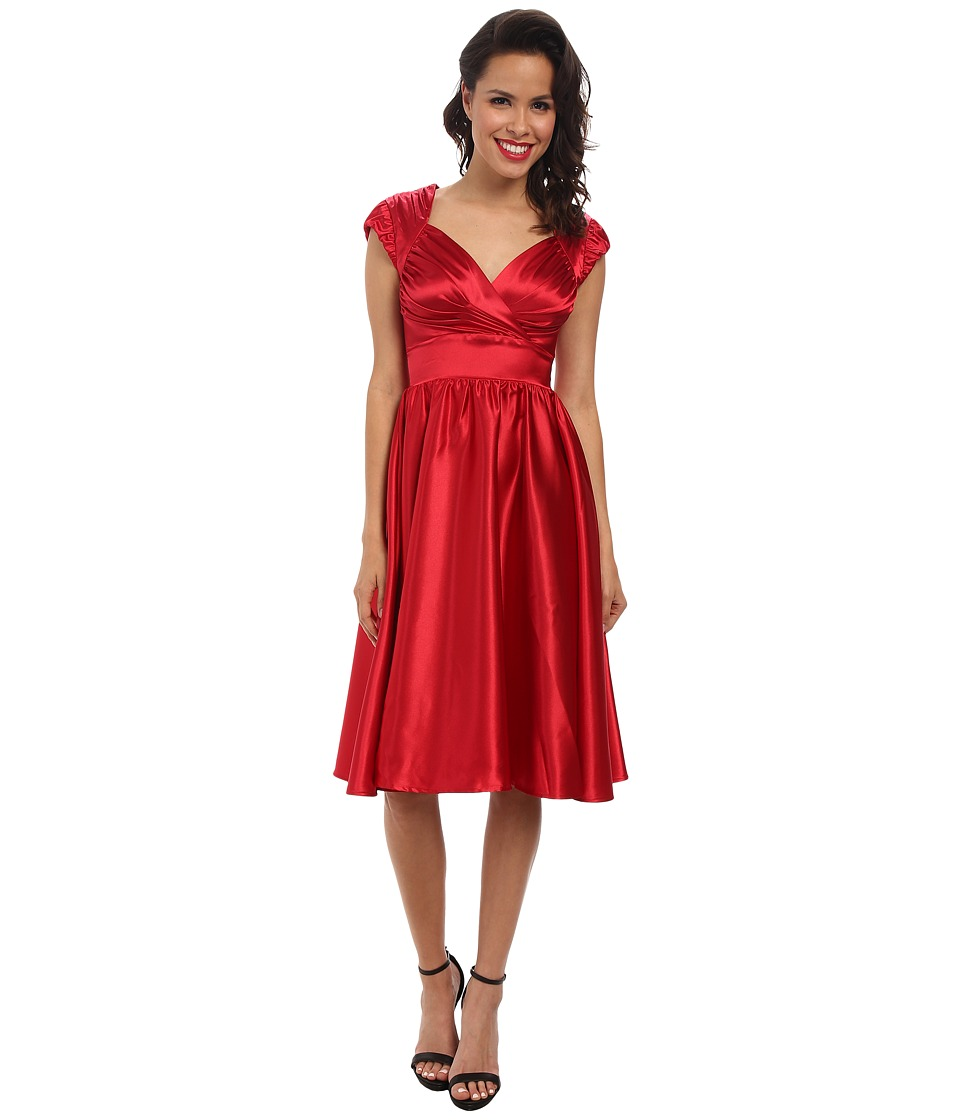 Stop Staring! - Doris Swing Dress (Red Sating) Women's Dress