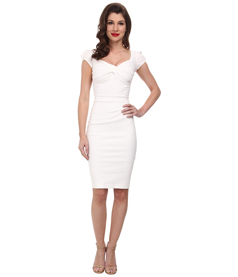 Stop Staring! - Billionaire Elegant Twist Front Dress (Ivory) Women's Dress