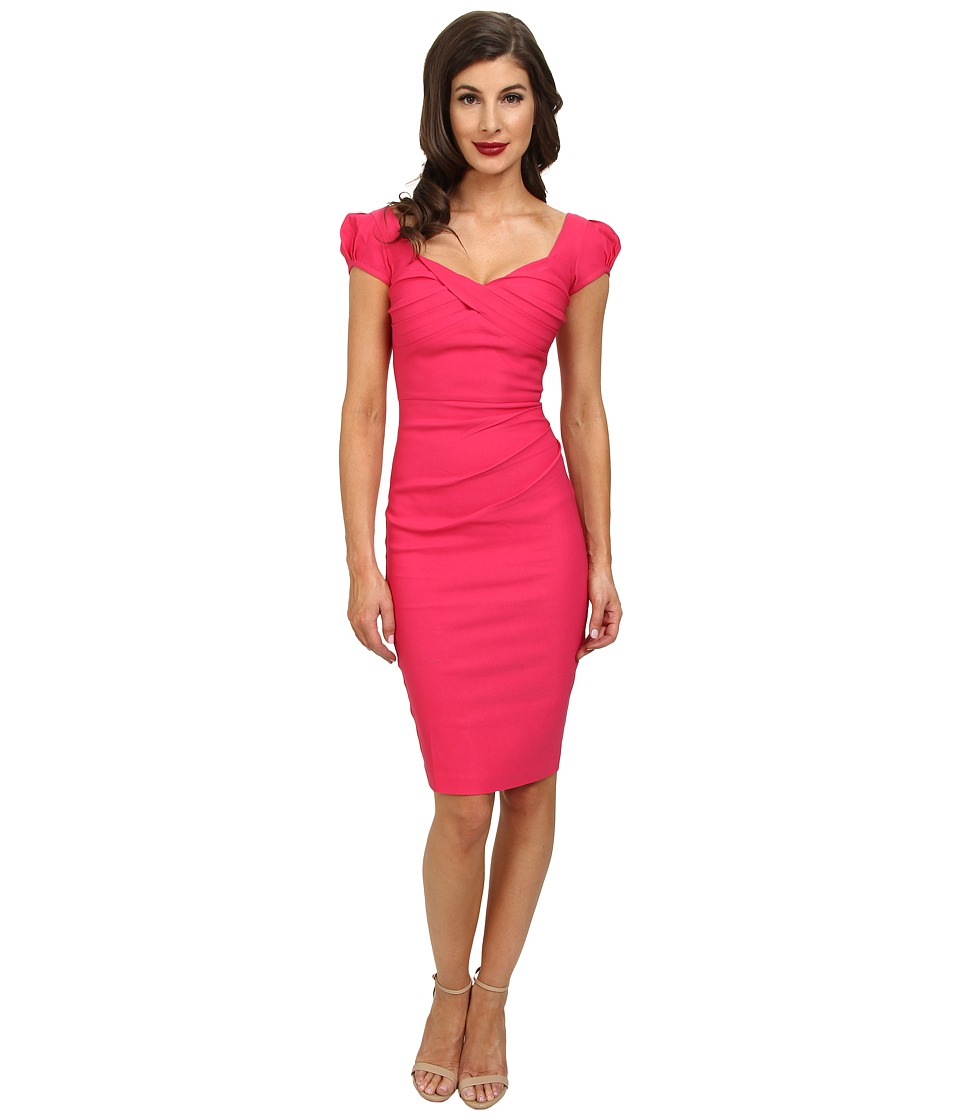 Stop Staring! - Billionaire Elegant Twist Front Dress (Hot Pink) Women
