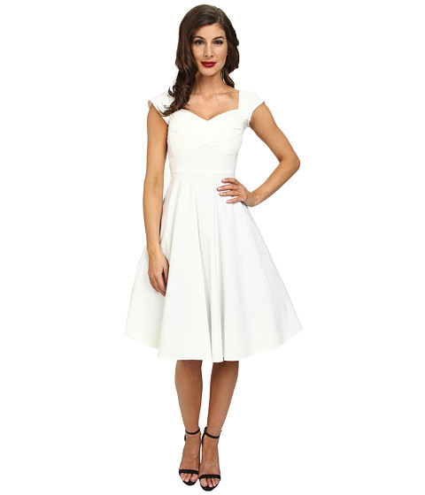 Stop Staring! - Madstyle Classic Swing Skirt Dress (Ivory) Women