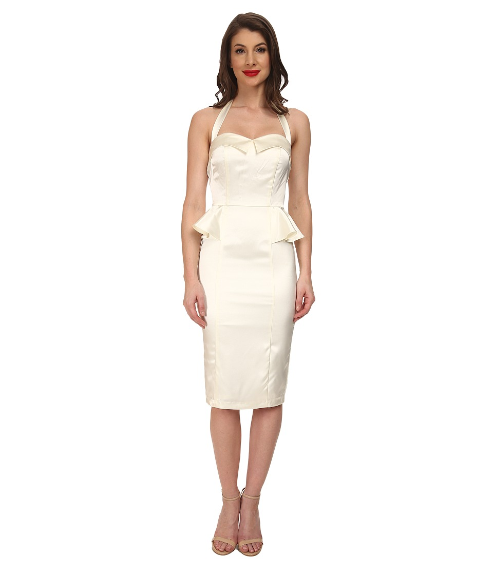 Stop Staring! - Elegance Fitted Dress (Ivory Satin) Women's Dress