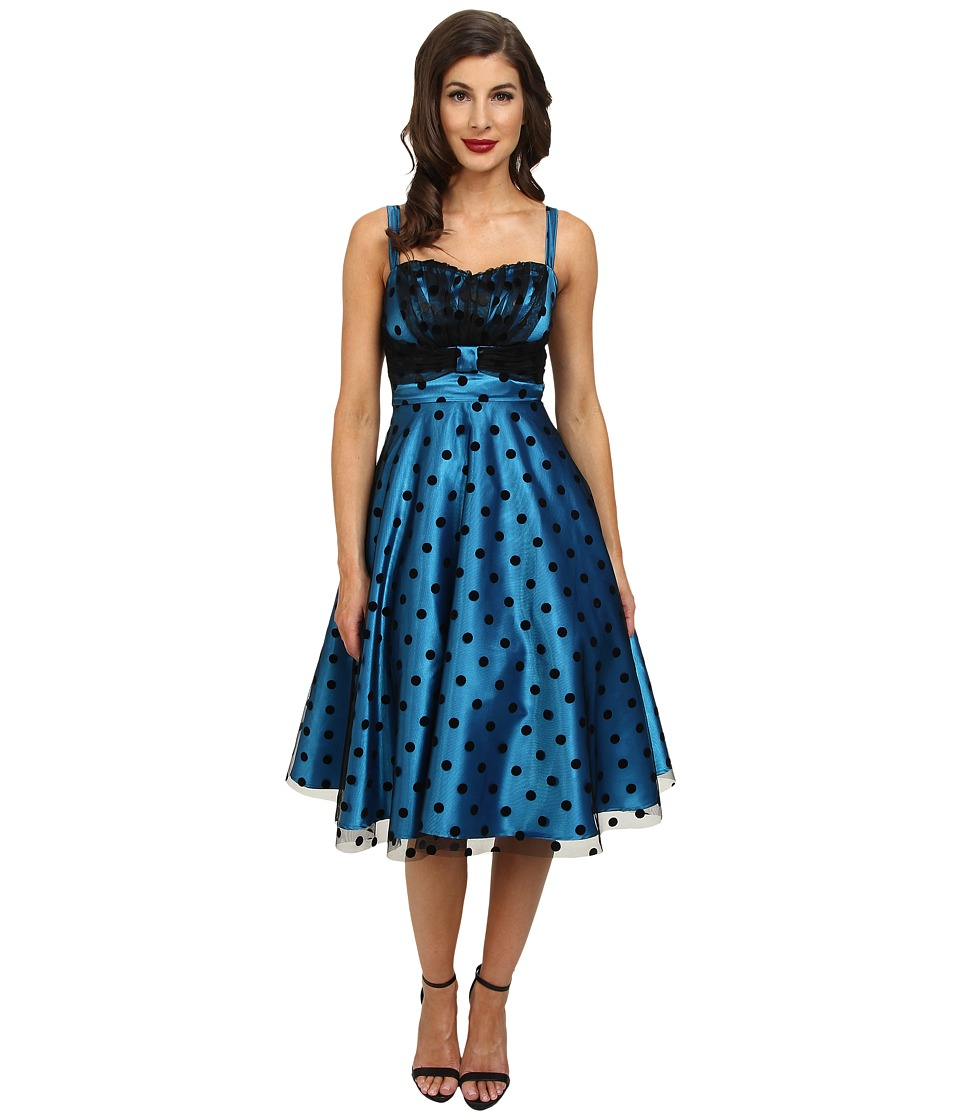 Stop Staring! - Party Dress (Turquoise/Black Dot) Women's Dress
