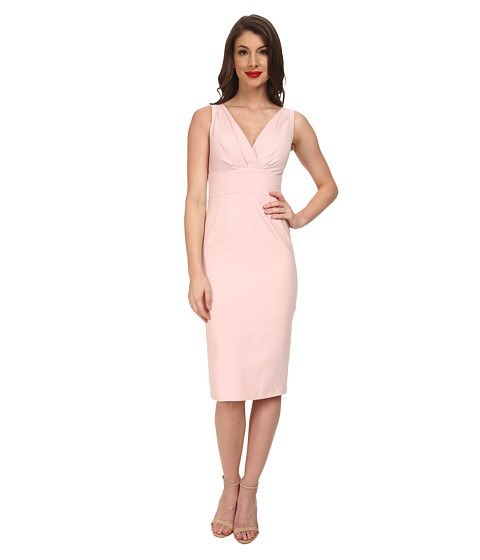 Stop Staring! - V-Neck Dress (Soft Pink) Women's Dress