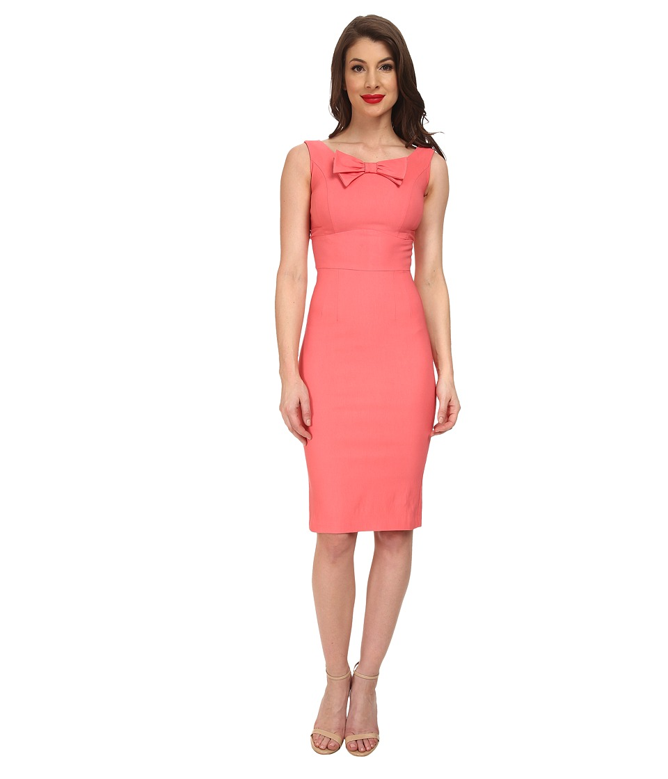 Stop Staring! - Little Fitted Dress (Coral) Women's Dress