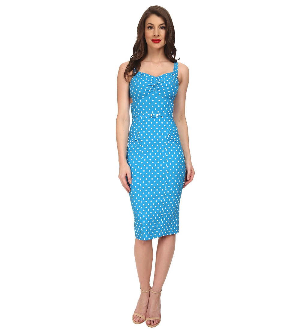 Stop Staring! - McKenzy Fitted Dress (Turquoise) Women