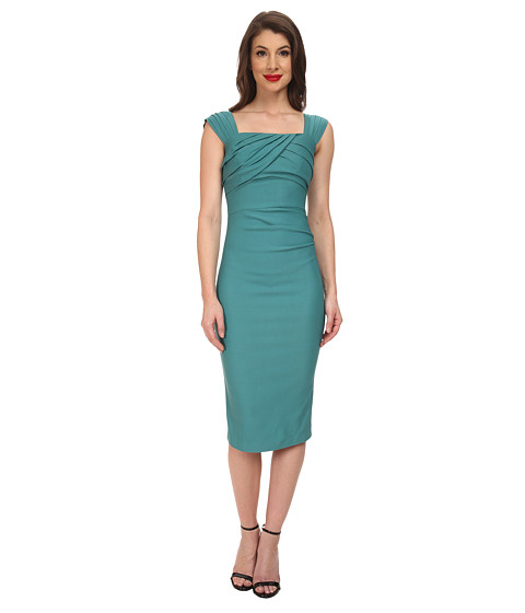 Stop Staring! - Jayla Fitted Dress (Seafoam Green) Women's Dress
