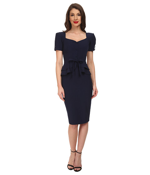Stop Staring! - Faith Fitted Dress (Navy) Women's Dress