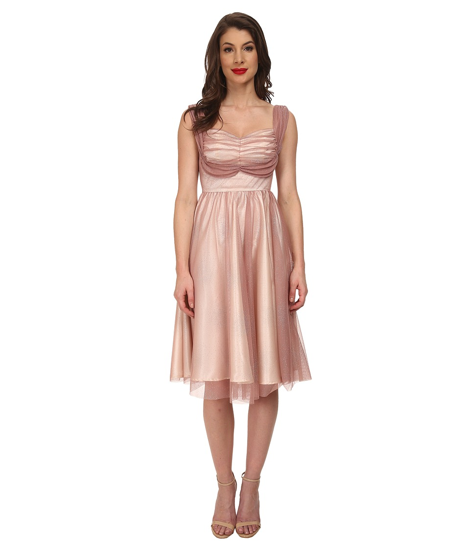 Stop Staring! - Gracie Swing Dress (Dusty Pink/Silver) Women