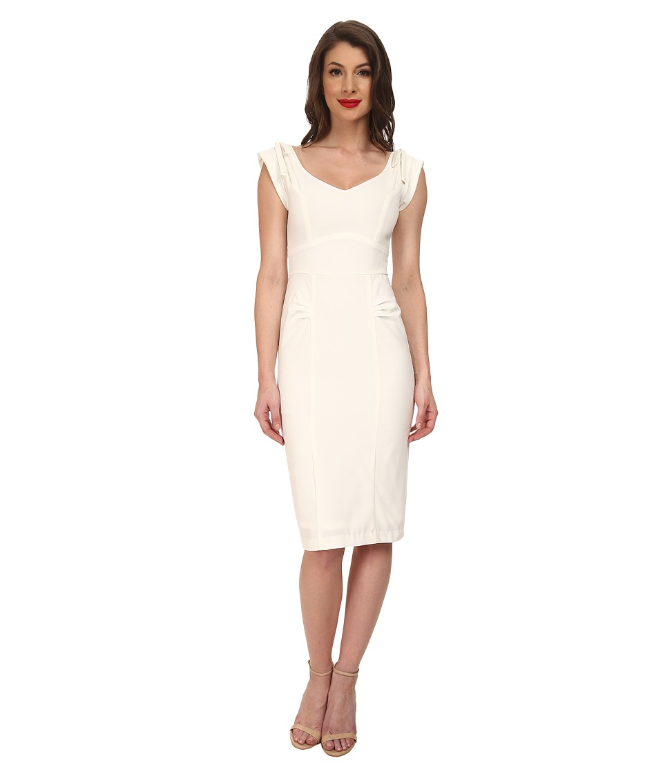 Stop Staring! - Marid Fitted Dress (Ivory) Women's Dress