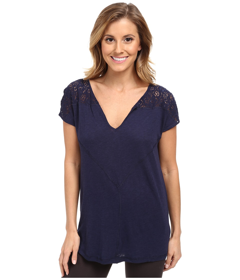 P.J. Salvage - Short Sleeve Sleep Shirt (Navy) Women's Pajama