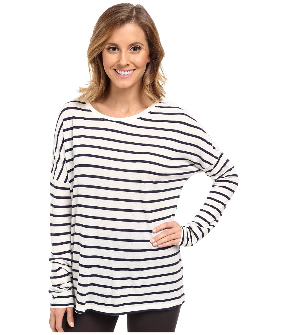 P.J. Salvage - Long Sleeve Sleep Shirt (Ivory) Women's Pajama