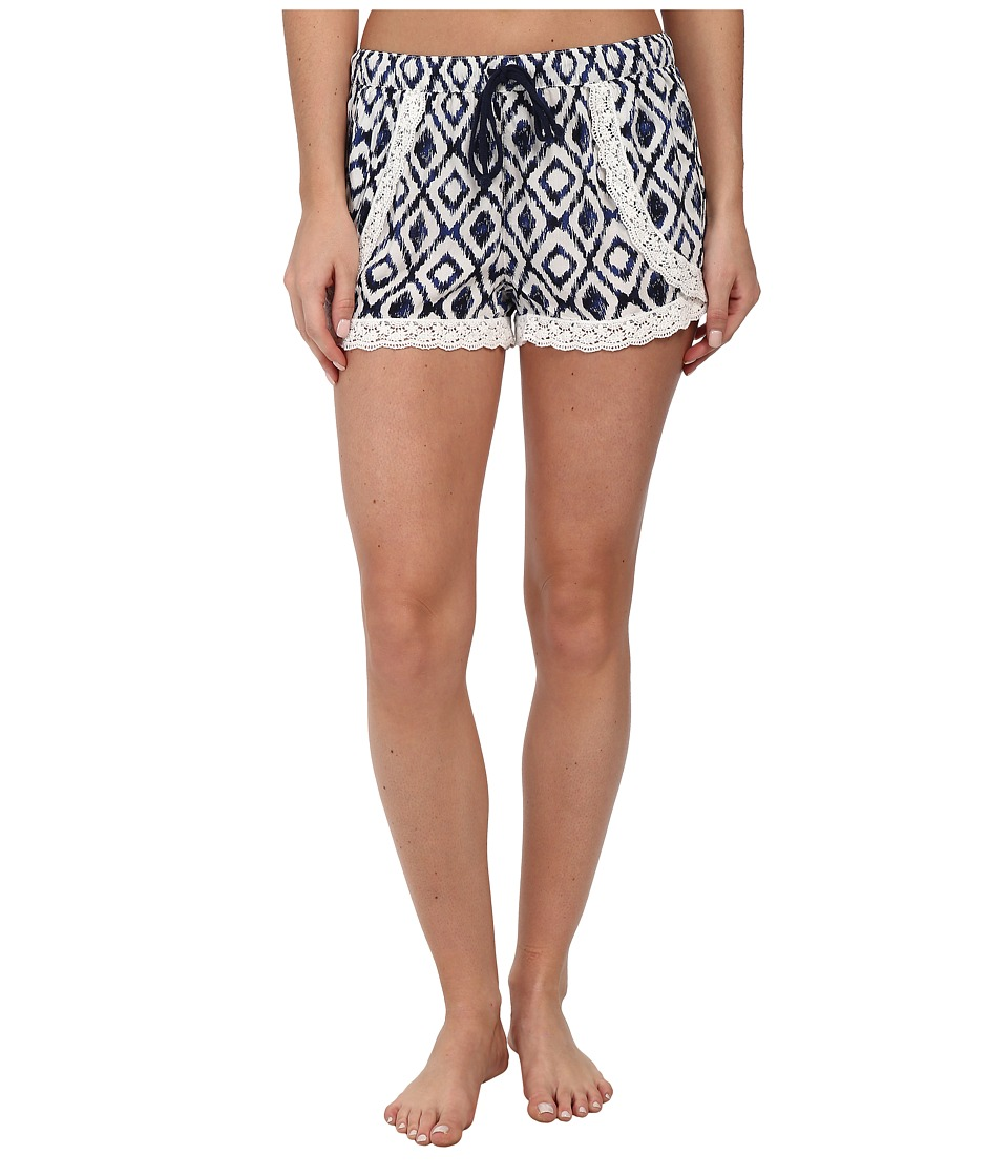 P.J. Salvage - Ikat Print Sleep Short (Ivory) Women