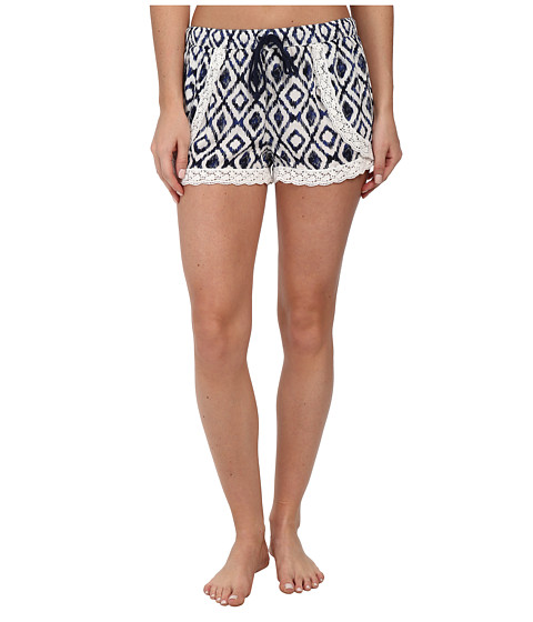 P.J. Salvage - Ikat Print Sleep Short (Ivory) Women's Pajama