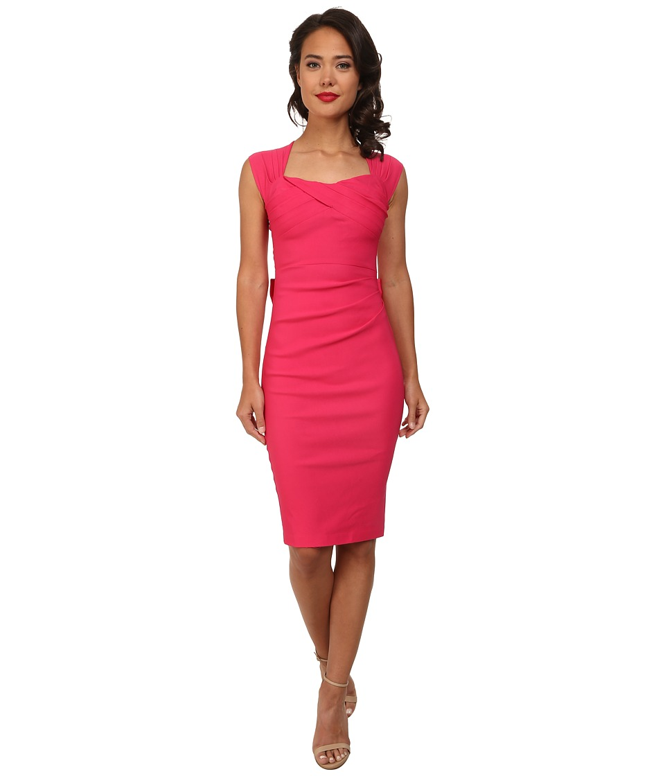 Stop Staring! - Love Sweetheart Neckline Dress w/ Bow Back Detail (Hot Pink) Women's Dress