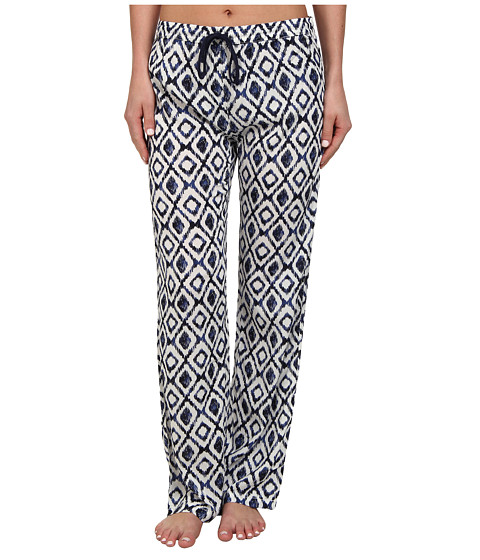 P.J. Salvage - Ikat Print Sleep Pant (Ivory) Women
