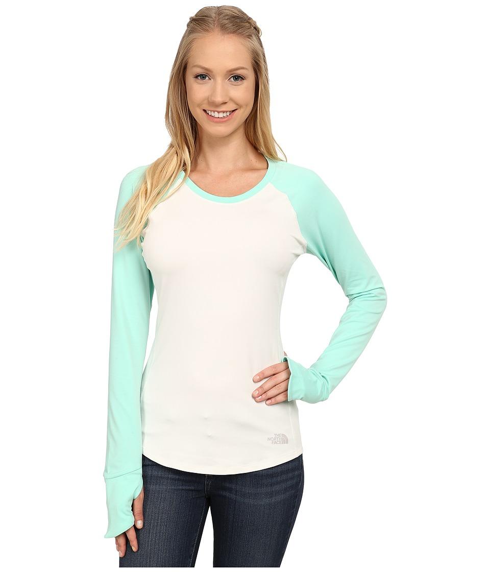 The North Face - Motivation Long Sleeve Shirt (Vaporous Grey/Surf Green) Women