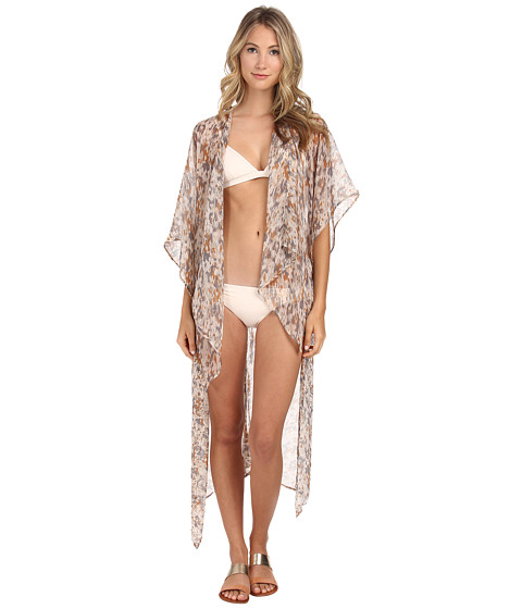 BCBGeneration - Fun in the Sun Cover-Up (Heather Grey) Women's Swimwear