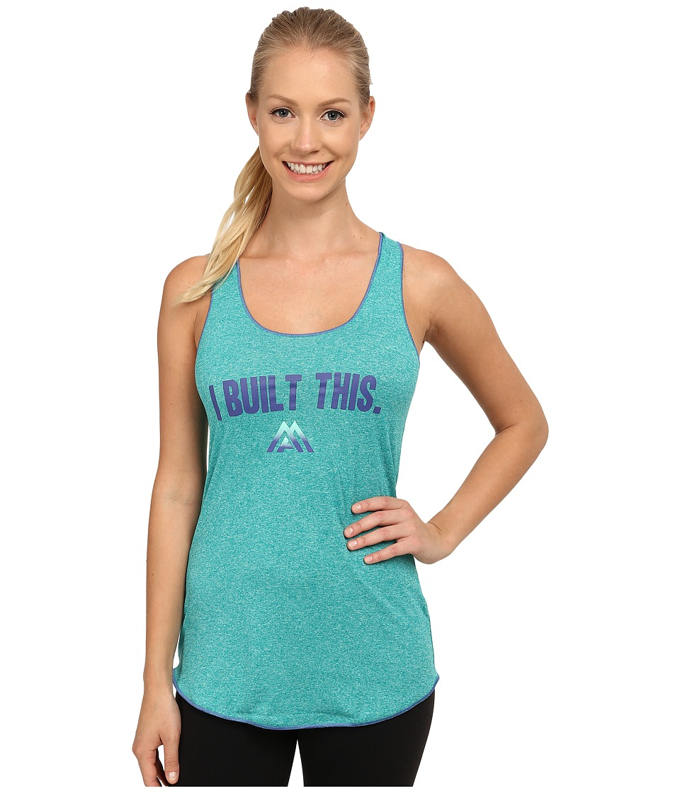 The North Face - Graphic Play Hard Tank Top (Kokomo Green Heather) Women's Sleeveless
