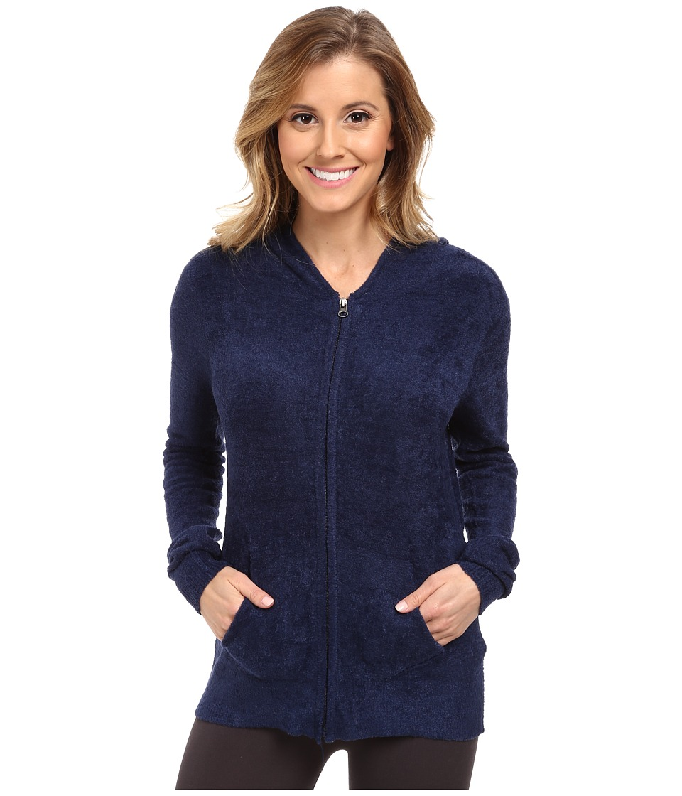 P.J. Salvage - Zip-Up Sleep Hoodie (Navy) Women's Pajama