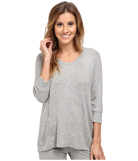 P.J. Salvage - Rayon Basic Sleep Top (Charcoal) Women's Pajama