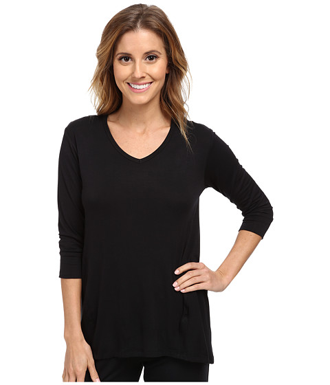 P.J. Salvage - Rayon Basic Sleep Top (Black) Women's Pajama