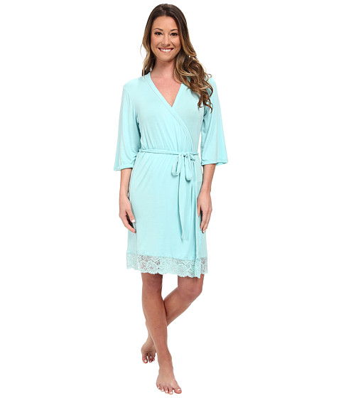 P.J. Salvage - Rayon Basic Robe (Turquoise) Women's Robe