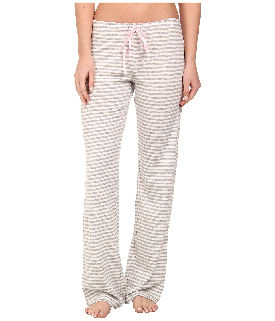 P.J. Salvage - Heather Grey/White Striped PJ Bottoms (Heather Grey) Women