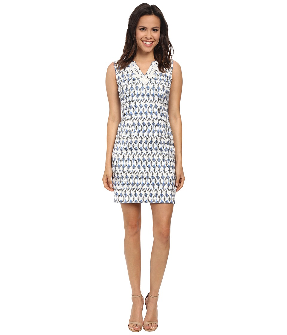 NYDJ - Tiffany Soutache Jacquard Shift (Midnight Sky) Women's Dress
