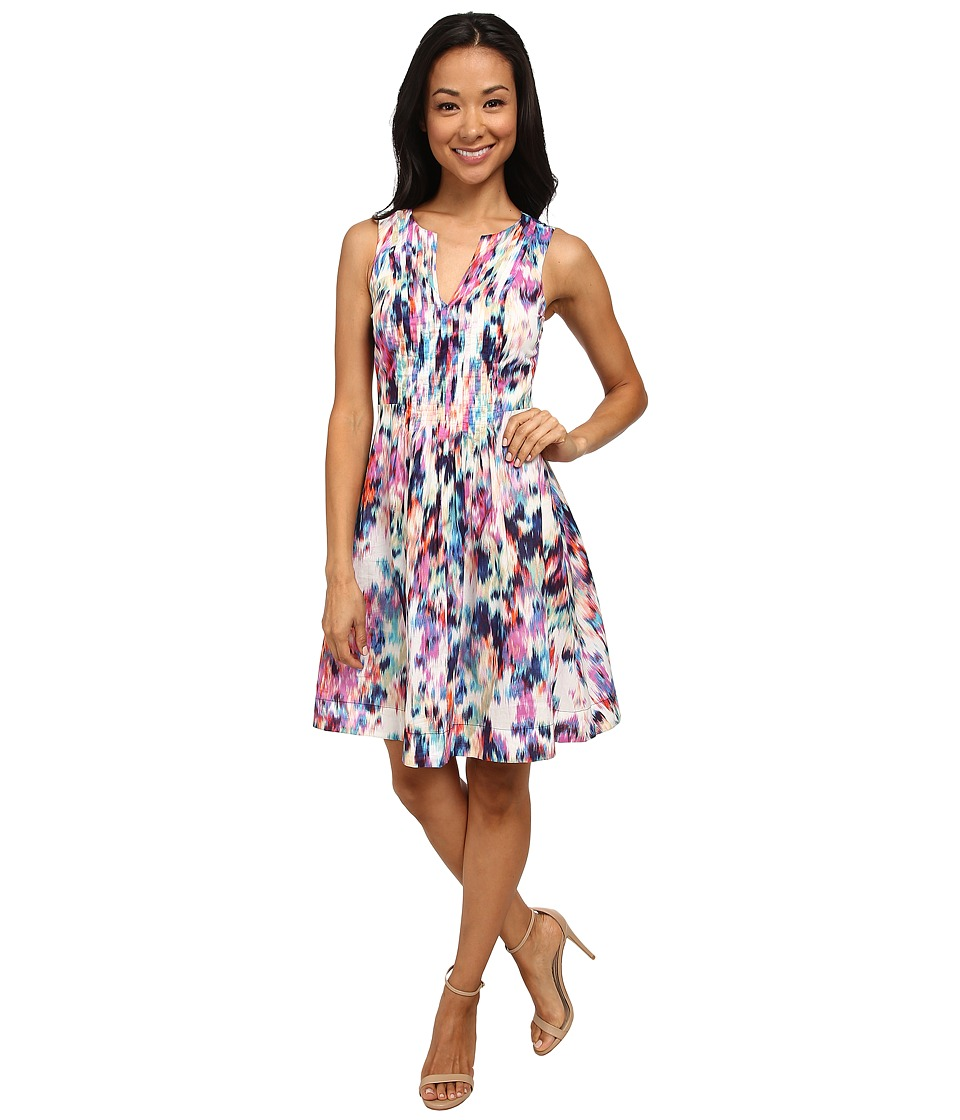 NYDJ - Lana Printed Cotton Voile Dress (Hibiscus) Women