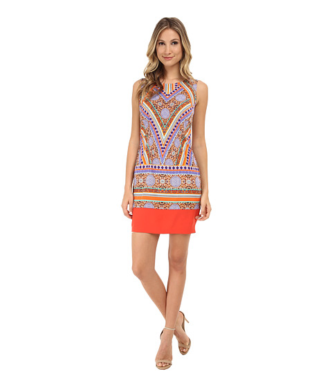 NYDJ - Amber Printed Shift Dress (Tangelo) Women
