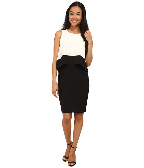 NYDJ - Caitlin 2-Tier Dress (Vanilla/Black) Women