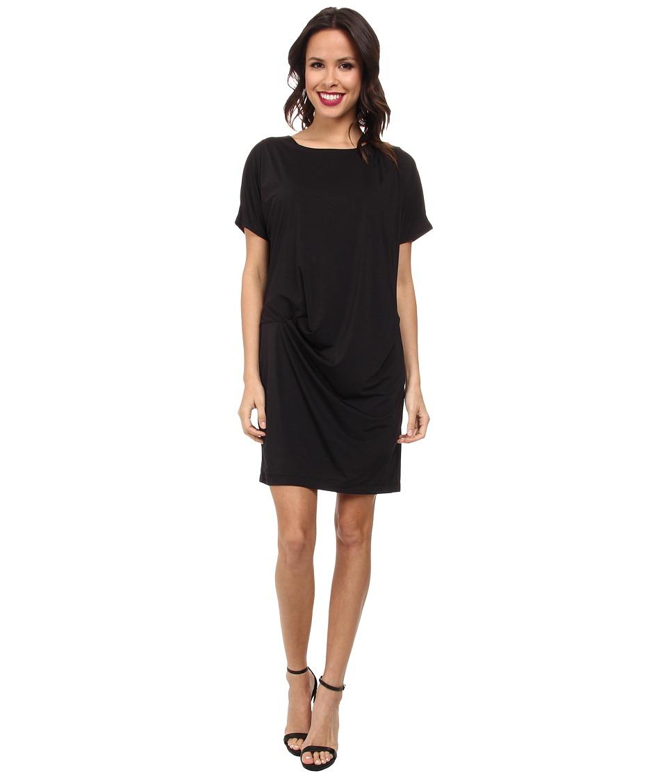 KUT from the Kloth Solid Micro Knit Dress (Black) Women