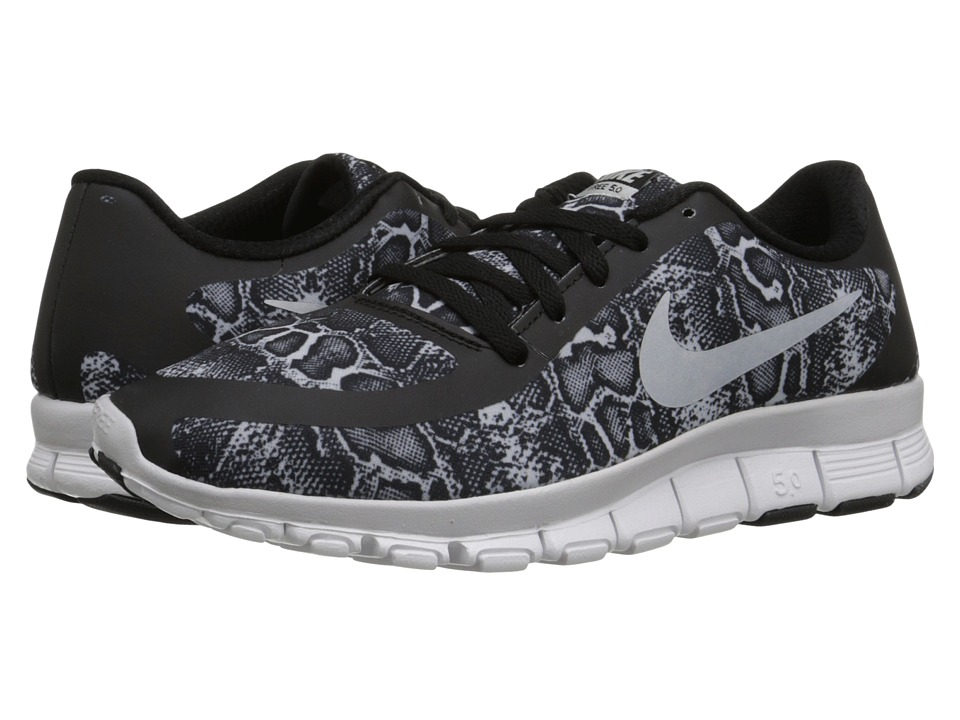 Nike - Free 5.0 V4 (Black/White/Pure Platinum) Women's Shoes