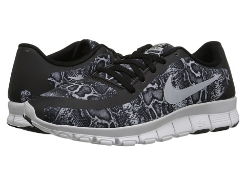 Nike - Free 5.0 V4 (Black/White/Pure Platinum) Women