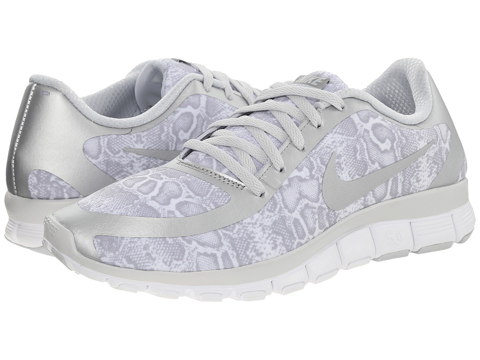 Nike - Free 5.0 V4 (White/Pure Platinum) Women's Shoes