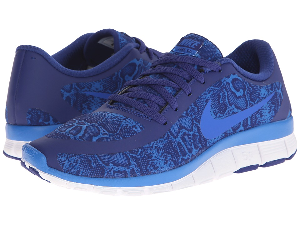 Nike - Free 5.0 V4 (Deep Royal Blue/White/Soar) Women's Shoes