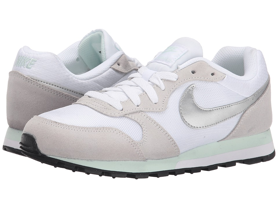 Nike - MD Runner 2 (White/Fiberglass/Pure Platinum/Metallic Silver) Women