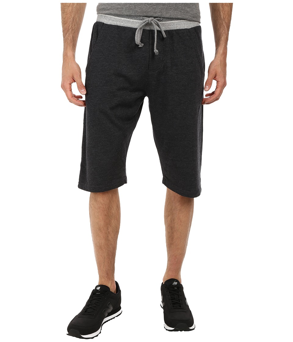 Alternative - Light French Terry Long Shorts (Black) Men's Shorts