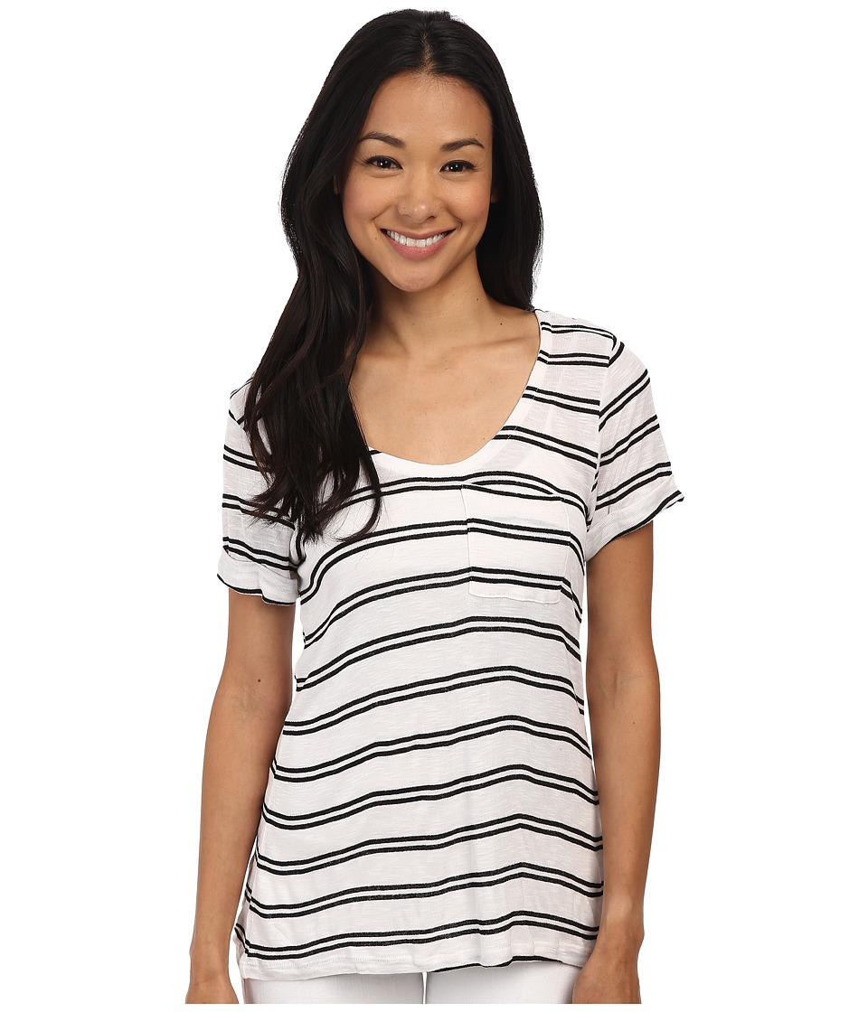 Splendid - Cayman Stripe Tee (White/Black) Women's T Shirt
