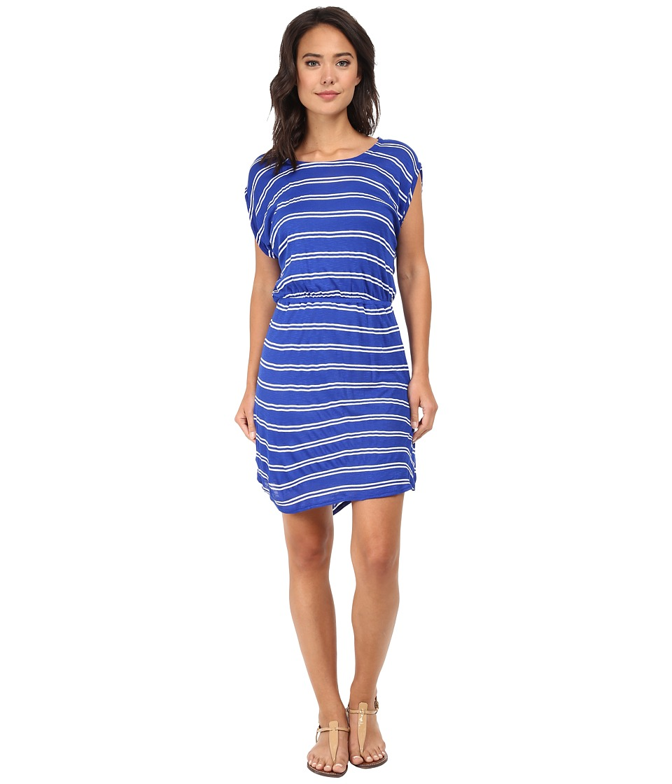 Splendid - Cayman Stripe Dress (Cobalt/White) Women